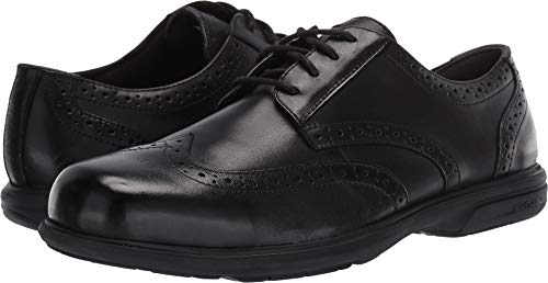 (Florsheim Men's Loedin Dress Wing Tip Steel Toe Work Shoe (Black), 10.5 M)