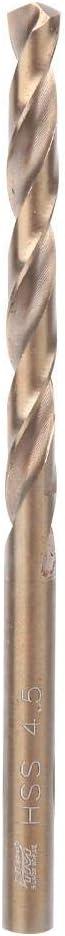 5.5mm 10pcs High Speed Steel HSS Twist Drill Bits 4mm //4.5mm//5.0mm//5.5mm Drilling Tool for Stainless Steel Iron Plate Wood Plastic Aluminum