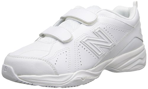 New Balance Boys' KV624 Hook and Loop Training Shoe, White, 13 M US Little Kid