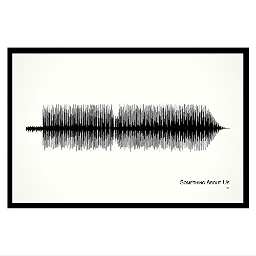Something About Us - 11x17 Framed Soundwave print for sale  Delivered anywhere in USA
