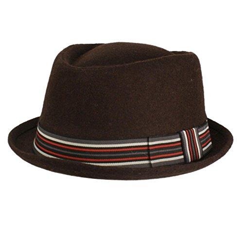 Wool Stripe Fedora Hat - 4