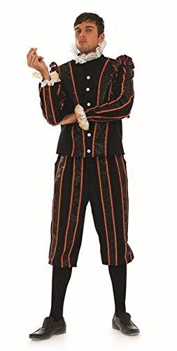 "Black Adder Tudor Earl Male Fancy Dress Costume - XL (Chest 46-48"")"