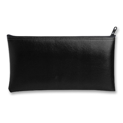 MMF Industries Leatherette Zipper Wallet, 11 x 6 Inches, Black (2340416W04) - Leatherette Zippered Wallet Leather