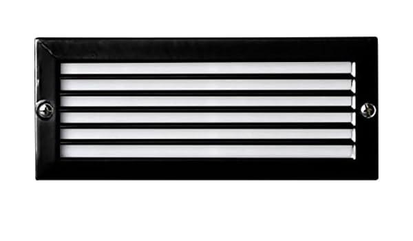 Dabmar Lighting 2x20 watt Recessed Open Face Brick Step /& Wall Fixture Black 12V