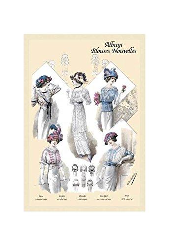 (Buyenlarge Album Blouses Nouvelles: Five Jaunty Fashions Print (Canvas)