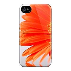 Premium TwzpCdg6405CRJvt Case With Scratch-resistant/ Orange Flower Case Cover For Iphone 4/4s