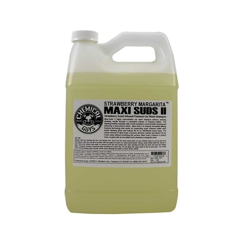 Chemical Guys CWS_1011 Maxi-Suds II Super Suds Car Wash Soap and Shampoo, Strawberry Margarita Scent (1 - Strawberry Scent