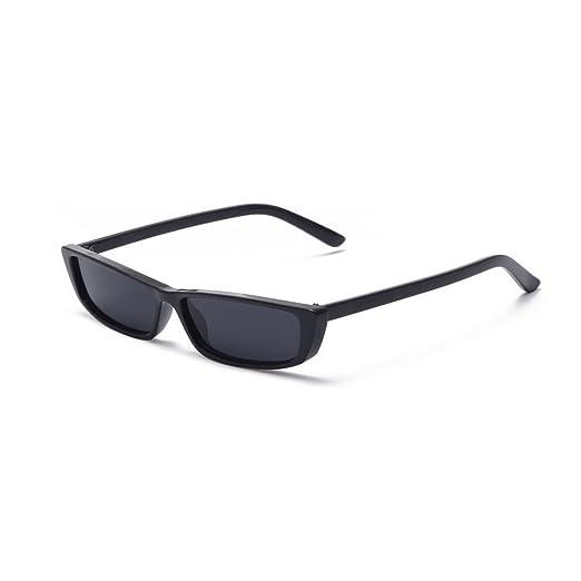 2f225782f09a MINCL Bold Small Sunglasses For Women Fashion Designer Rectangle Frame  Shades (black-black