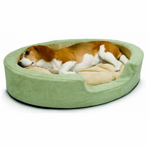 K&H Pet Products Thermo Snuggly Sleeper Oval Large Sage 31