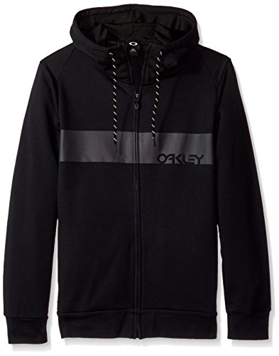 Oakley Men's crossbar Mark Ii FZ Hoodie, Blackout, - Clothing Mens Oakley