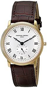 Frederique Constant Men's FC - 235M4S5 Slime Line Brown/Silver Stainless Steel Watch