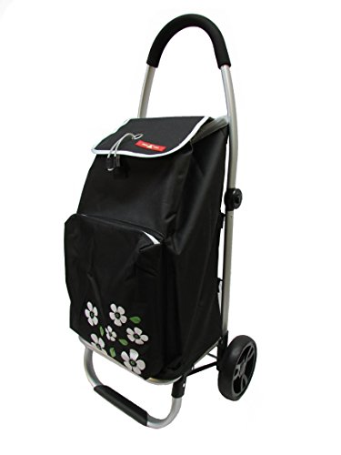gna-foldable-3-position-aluminum-shopping-trolley-w-cooling-compartment-black