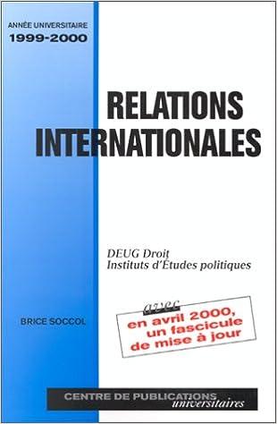 En ligne RELATIONS INTERNATIONALES. : Edition 2000 pdf, epub
