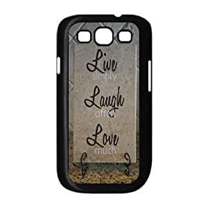Customized Dual-Protective Case for Samsung Galaxy S3 I9300, Live, love, laugh Cover Case - HL-506951