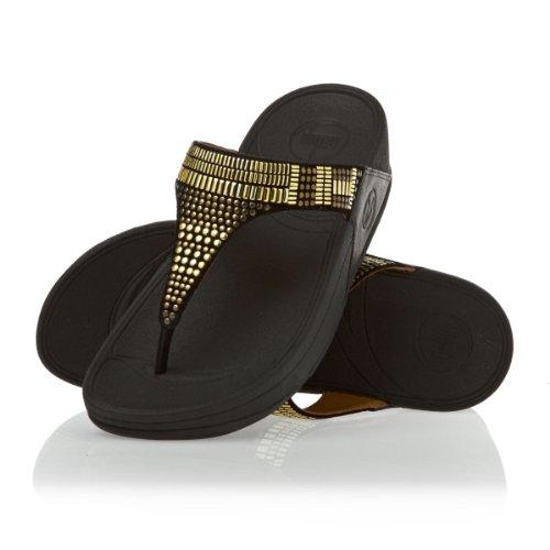 Fitflop Aztek Chada - Sandalias de vestir de cuero para mujer negro - Black 118