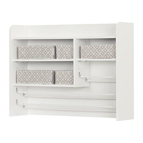 South Shore 10489 Crea Pure White Craft Storage Hutch