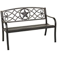 Deals on Mosaic Rustic Star Bench