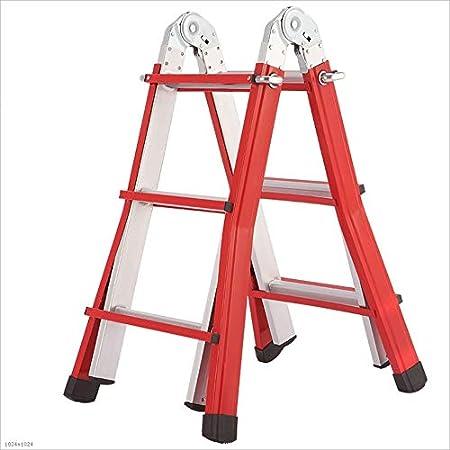Love lamp Escaleras Plegables Escalera de extensión de aleación de Aluminio Escalera Antideslizante Escalera multifunción Escalera portátil Ligera y Plegable Roja Escaleras Telescópicas (tamaño : S): Amazon.es: Hogar