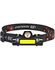 MOSTOP Hoofdlamp, oplaadbare USB-koplamp, superheldere waterdichte COB + Q5-koplamp, magnetische zaklamp voor kamperen, hardlopen, wandelen, vissen, nachtrijden