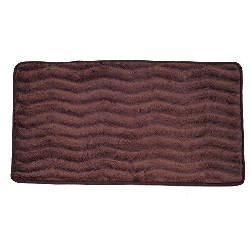 Lavish Home Memory Foam 24 by 60-Inch Bath Mat, Chocolate, X-Long (Memory Foam Bath Mat Chocolate)