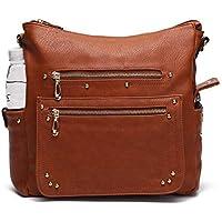 End Pocket Women's Purse Wallet Set Organizer Handbag Shoulder Satchel Tote Top Handle Ladies Extra Large by MKCUTE