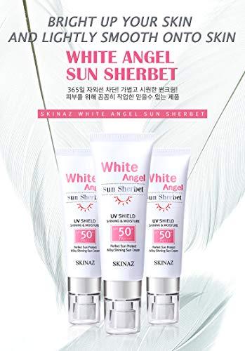 Skinaz) White Angel Sun Sherbet + Sun Block Cream SPF50+ / PA+++ / X - COOL SUNBLOCK CREAM