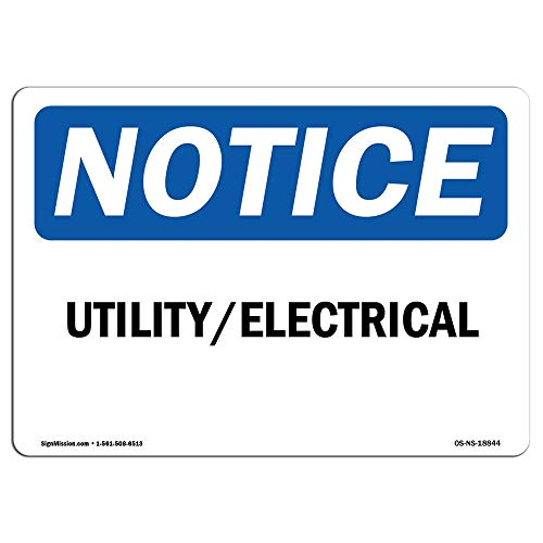 OSHA Notice Sign Utility Electrical Protect Your Business Construction Site Warehouse Shop Area Metal Sign Warning Saftey Sign Pre-drilled Holes for Easy Mounting from Moonluna