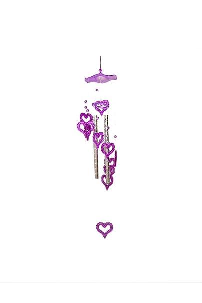 Generic Hearts Design Adorable Windchime (Purple