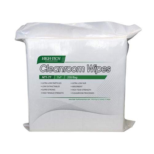 Image of Disposable Wipes High-Tech Conversions NT10-1212 White Poly-Cellulose Nova-Tech Lint Free Nonwoven Cleanroom Wipe, 12' Length, 12' Width (Pack of 2100)