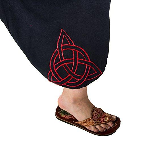 Para Mujer Pantalón Magie Negro Harem Und Y Kunst Rojo I4q11