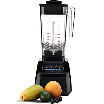 Hephaestus HY-1128T Electric Blender and Food Processor - Professional Mixer for Fruits, Vegetables, Smoothies and Shakes - High-Capacity, Power Motor