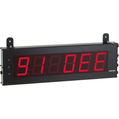 Red Lion LD Red Large Serial Slave LED Segment Display, 6 Digits, 4'' Character Size, 50-250 VAC, 50/60 Hz by Red Lion