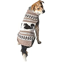 Chilly Dog Cowichan Squirrels Dog Sweater, 3X-Large