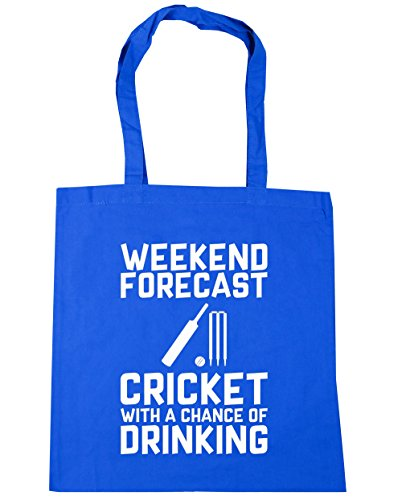 HippoWarehouse weekend Forecast Cricket con una oportunidad de Potable Tote Compras Bolsa de playa 42cm x38cm, 10litros, rosa (classic) (rosa) - 21459-TOTE-Classic Pink Cornflower Blue