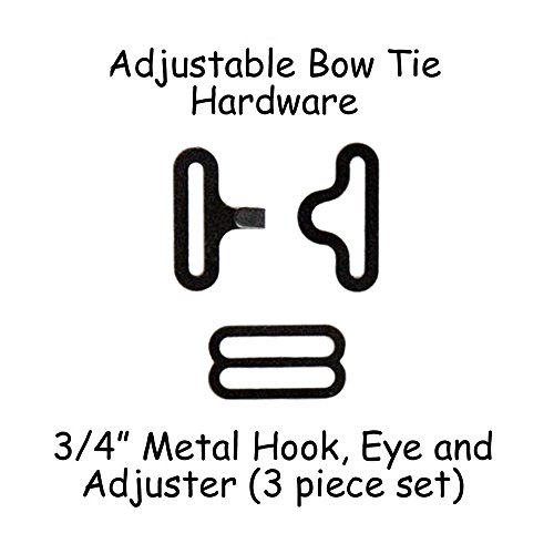 Adjustable Bow Tie Hardware Clips - 3/4