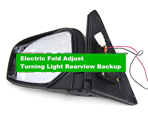 GOWE Chrome Mirror 7 wires Electric Fold Adjust Turning Light Rearview Backup for Mitsubishi Pickup Triton L200 2005-2014