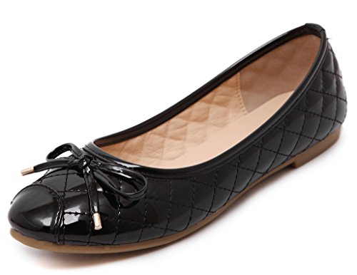 tête Noir Plates Round Jds Soft soled Chaussures Casual Doux Bowknot Fortuning's vBYqz