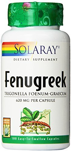Solaray Fenugreek Seeds Capsules, 620 mg, 100 Count by - Seed Fenugreek 100 Capsules