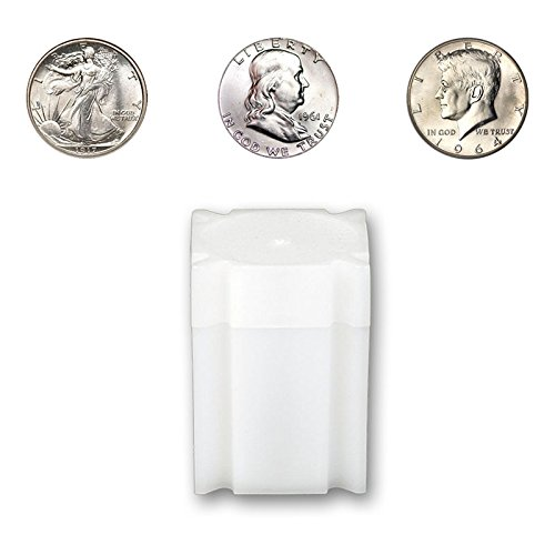 CoinSafe Half Dollar Tube - Each Tube Holds 20ea Walking Liberty, Franklin, and Kennedy Half Dollar Coins