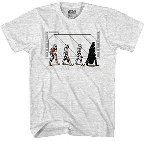 Star Wars Death Star Road Stormtrooper Crossing Mens T-Shirt (Small, Ash Heather)