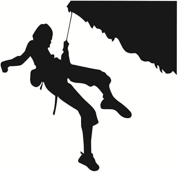 Pegatinas de pared Silueta de escalada deportiva extrema ...