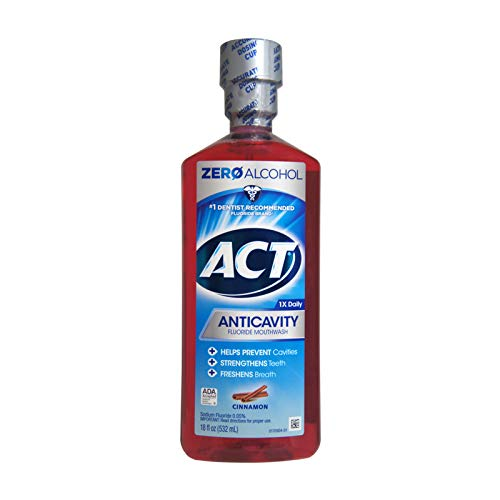 ACT Anticavity Fluoride Rinse Cinnamon 18 oz (Pack of 5)