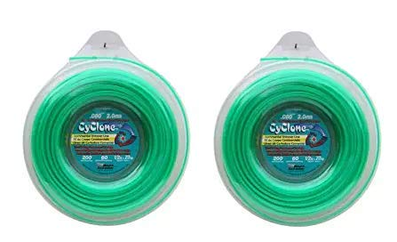 Cyclone .080-Inch-by-200-Foot Spool Commercial Grade 6-Blade 1/2-Pound Grass Trimmer Line, Green CY080D1/2-12 ((2.Units))