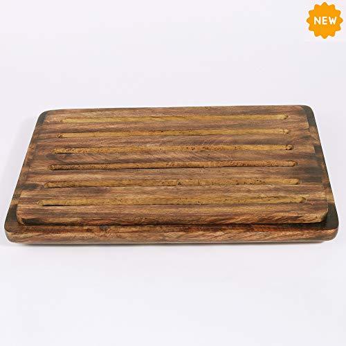 Rusticity Wooden Bread Board |Mango Wood| Handmade | (14x10x1.25 in)