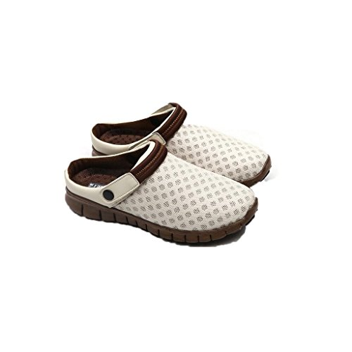 Unisex Heel Women Brown Flip Couples Men Flat Sandals Fashion Flops Summer Beige Slippers Breathable Beach Mesh Highdas Shoes qEH1wf8