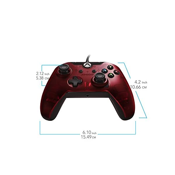 PDP 048-082-NA-RD Wired Controller for Xbox One, Xbox One X and Xbox One S, Crimson Red 2