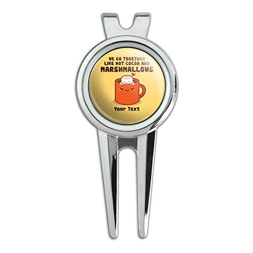 GRAPHICS & MORE Personalized Custom 1 Line Hot Cocoa and Marshmallows Best Friends Golf Divot Repair Tool and Ball Marker