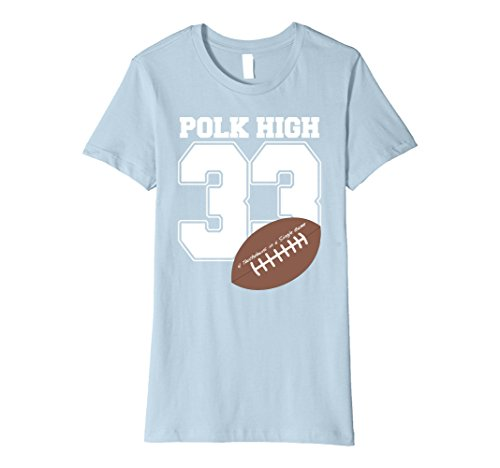 Womens Polk High 33 Couples Halloween Costume Premium T-shirt Medium Baby Blue