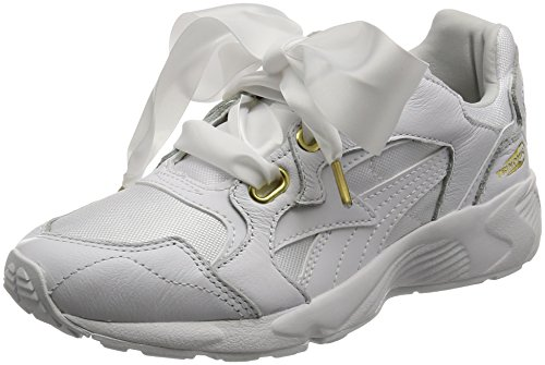 Puma Womens - Prevail Heart Bow Trainers - White - UK 5