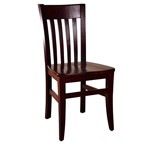 Beechwood Mountain BSD 34S DM Solid Beech Wood Side Chairs In Dark Mahogany  For Kitchen And Dining, Set Of 2